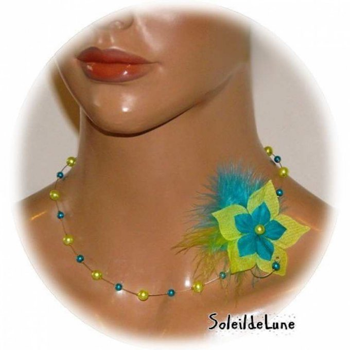 collier-fleur-plumes-perles-vert-anis-turquoise-mariage-mariee